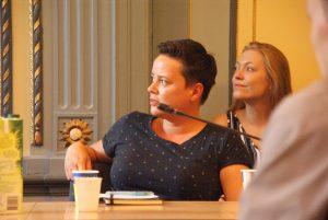 Discussie naar aanleiding van de lezing van Anne Oerlemans en Charlotte Paauwe.